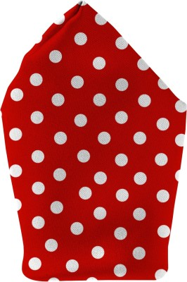 The Fappy Store red dots Printed Microfibre Pocket Square