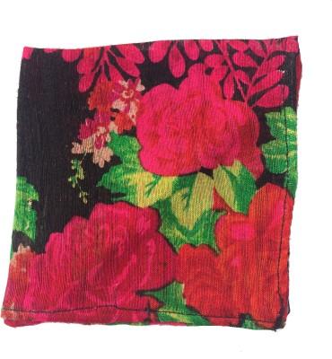 Jupi Floral Print Silk Pocket Square