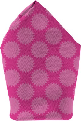 The Fappy Store pink Printed Microfibre Pocket Square