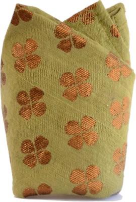 Jupi Floral Print Silk Brocade Pocket Square