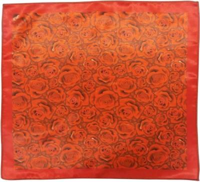 Serebroarts Floral Print Silk Pocket Square