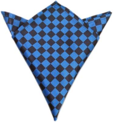 Blacksmithh Flags Blue Checkered Satin Pocket Square