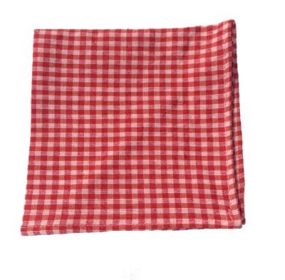 Jupi Checkered Cotton Pocket Square