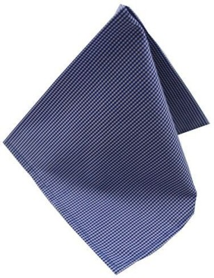 Moods And Hues Bluecheck Checkered Cotton Pocket Square