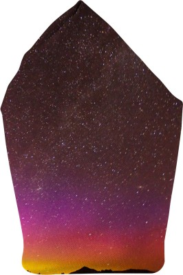 The Fappy Store Sky Full Of Stars Printed Microfibre Pocket Square