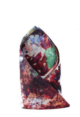 CAZZANO Floral Print Microfibre Pocket Square