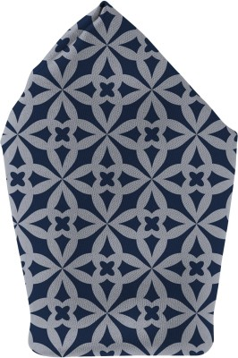 The Fappy Store big pattern - blue Printed Microfibre Pocket Square