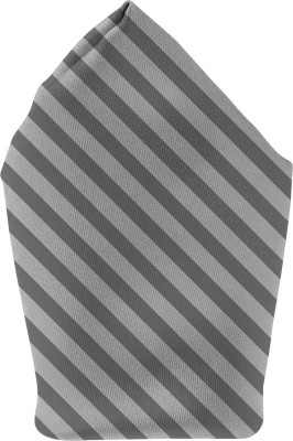 The Fappy Store grey lines Printed Microfibre Pocket Square