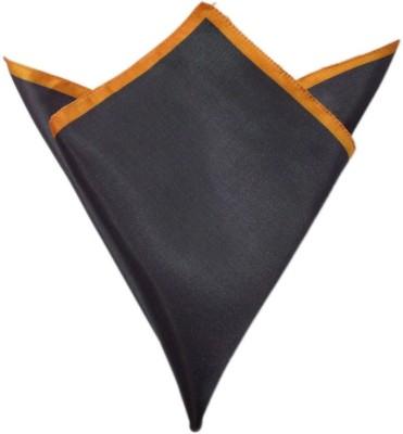 Blacksmithh Carbon Tipped Orange Solid Satin Pocket Square
