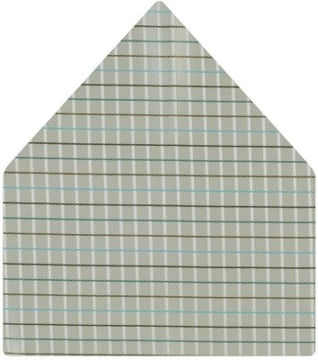 Tiekart Checkered Microfibre Pocket Square