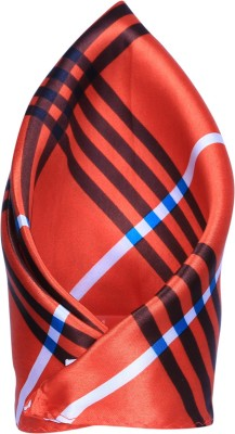Clareo Striped Microfibre Pocket Square