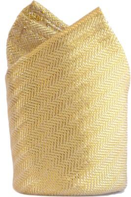 Jupi Striped Silk Brocade Pocket Square