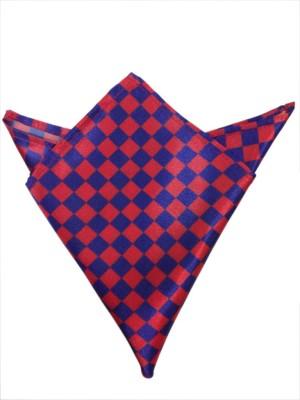 Blacksmithh Flags Red Checkered Satin Pocket Square