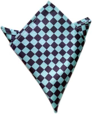 Blacksmithh Flags Icemint Checkered Satin Pocket Square