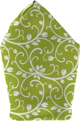 The Fappy Store green pattern Printed Microfibre Pocket Square