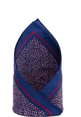 CAZZANO Graphic Print Microfibre Pocket Square