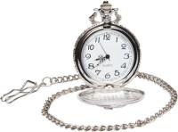 Pourni Antique Design Usable Analog Pocket Watch(Silver)
