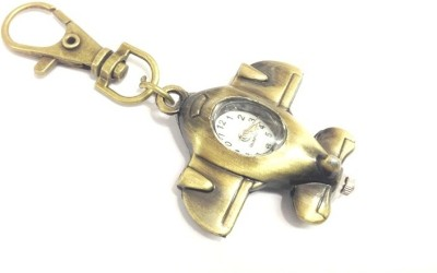 Kairos Designer Airplane Keychain Analog Pocket Watch(Gold)