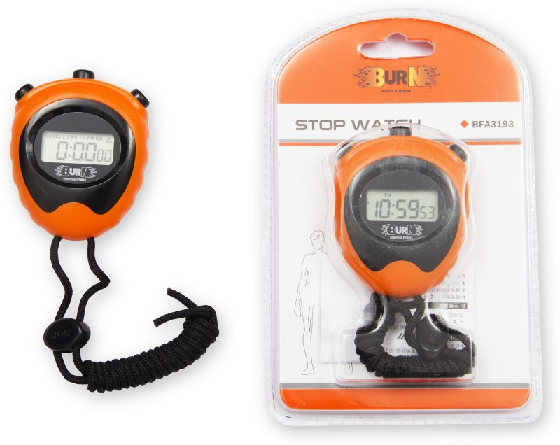 Burn Digital Stop Watch(Orange, Black)