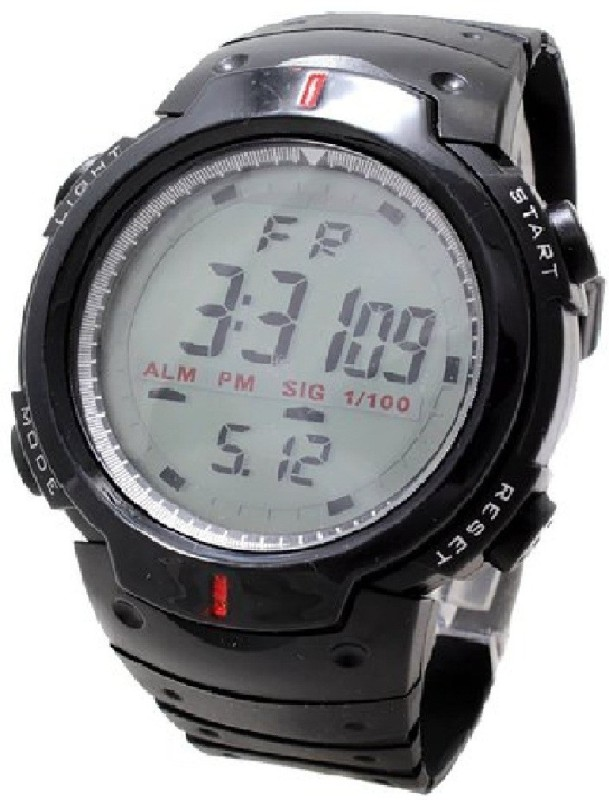 Rokcy Digital Sports Digital Son Watch with Stopwatch , Alarm - Black Dial - For Men and Boys(Black)