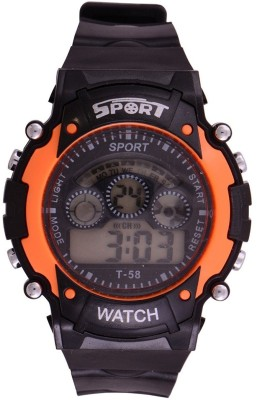 Rokcy Digital Digital Smart Watch Multi Color Dial Sports Watch for Kids Orange(Black)