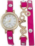 Rokcy Analog Pink love analog watch for ...