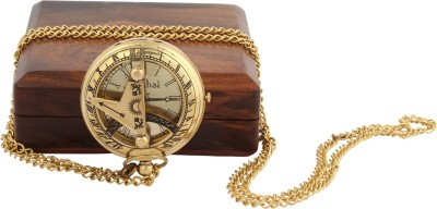 Artshai Sundial Artshai2085 Anique Look Brass Pocket Watch Chain