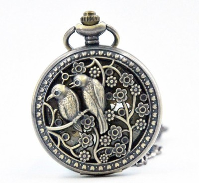 Picket Fence Two Birds PW015 Bronze Alloy Pocket Watch Chain