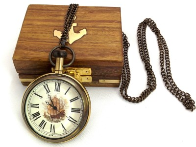 Artshai Endeavour Ship Design Artshai2069 Anique Look Brass Pocket Watch Chain