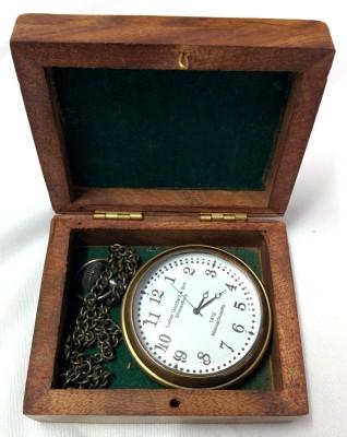 Artshai White Dial With Sheesham Box 2160 Anique Look Brass Pocket Watch Chain