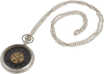 Artshai Silver Look 2084 Chrome Brass Pocket Watch Chain