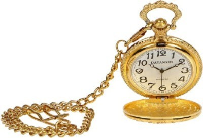 Elwin GP Pocket Watch El Pkt Gp 0099 18 Ct. Gold Plated Gold Plated Pocket Watch Chain
