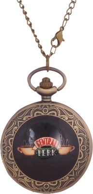 24x7 eMall CENTRAL PERK FRIENDS 45 mm with Chain 80 cms Antique finish Bronze Pocket Watch Chain( )
