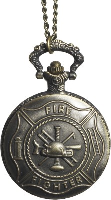 Picket Fence Fire Fighter PW010 Bronze Alloy Pocket Watch Chain
