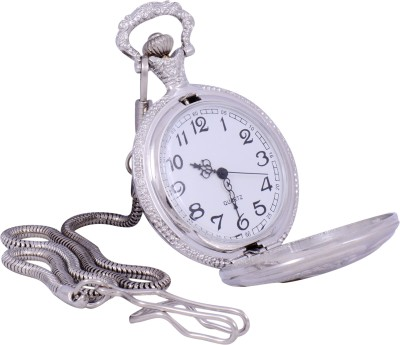 Times Antique Silver Color Chrome-Plated Metal Pocket Watch Chain( )