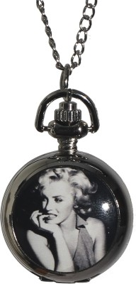 Picket Fence Marilyn Monroe PW002 Silver Plated Stainless Steel Pocket Watch Chain