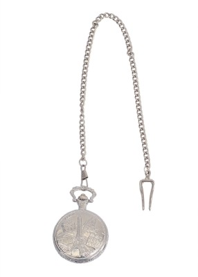 Bromstad Antique P001SW Chrome-Plated Metal Pocket Watch Chain( )