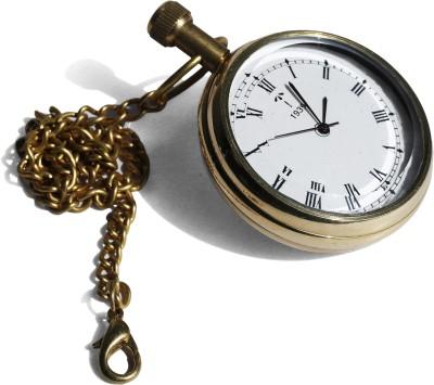 Brown Village Pocket Watch j2456 Chrome Brass Pocket Watch Chain