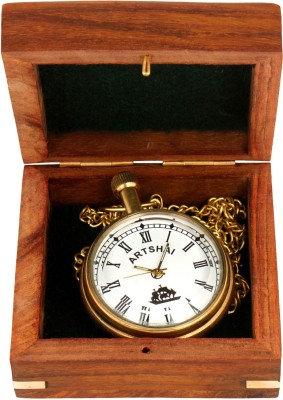 Artshai Mechanical Pocket watch Artshai2290 Antique Brass Pocket Watch Chain