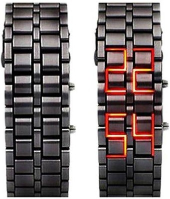 kem Flow Gold Led Bracelet watch 293 Black Metel Pocket Watch Chain