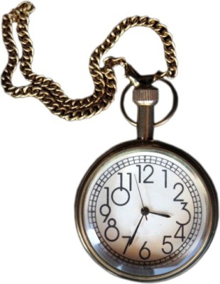 Interio Crafts Old Style Faded British era IC-1064-03 Chrome-plated Metal Pocket Watch Chain