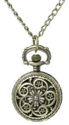 Picket Fence Flower 4 PW044 Bronze Alloy Pocket Watch Chain