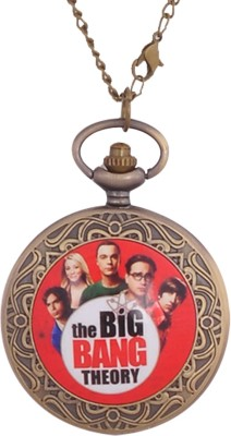 24x7 eMall Big Bang Theory PENDANT 45 mm with Chain 80 cms ANTIQUE FINISH Bronze Pocket Watch Chain( )