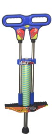 Taaza Garam Kids Flexible Bouncy Jumping Metal - Gift Toy Pogo Stick