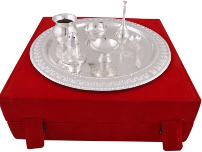 hand-e-Crafts Brass Pooja & Thali Set