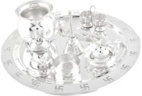 GS Museum Silver Plated Pooja & Thali Set(1 Pieces, Silver)
