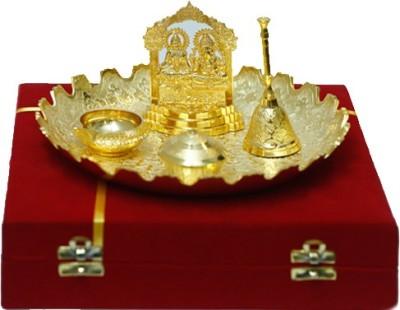 FS Brass Brass Pooja & Thali Set