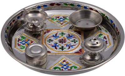 Jalaram Shopping Centre Stainless Steel Pooja & Thali Set