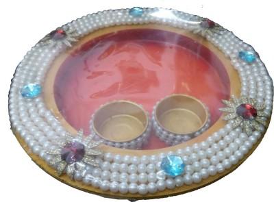 newly handicraft Wooden Pooja & Thali Set(Multicolor)