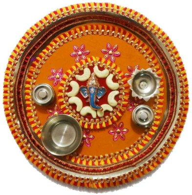 Tradition India Diwali Gift Diya TI132 Stainless Steel Pooja & Thali Set